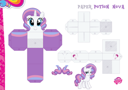 Size: 2048x1447 | Tagged: safe, artist:goldenheart4, artist:grapefruitface1, potion nova, pony, unicorn, my little pony: pony life, pony life, base used, craft, custom, female, g4.5 to g4, papercraft, photo, printable, solo, toy