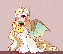 Size: 2242x1917   Tagged: safe, artist:krissstudios, oc, oc:mary, bat pony, pony, blushing, eye clipping through hair, female, hair over one eye, kneeling, looking at you, mare, pale belly, plushie, solo, star plushie, stars, white belly
