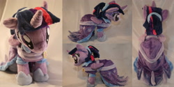 Size: 3986x2000 | Tagged: safe, artist:bastler, twilight sparkle, alicorn, pony, the last problem, clothes, coronation dress, dress, hoof shoes, irl, photo, plushie, second coronation dress, solo, twilight sparkle (alicorn)