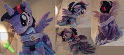 Size: 5601x2500 | Tagged: safe, artist:bastler, twilight sparkle, alicorn, pony, the last problem, clothes, coronation dress, dress, hoof shoes, irl, photo, plushie, second coronation dress, solo, twilight sparkle (alicorn)