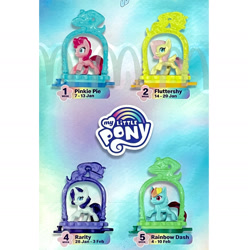 Size: 1535x1546 | Tagged: safe, fluttershy, pinkie pie, rainbow dash, rarity, happy meal, mcdonald's, mcdonald's happy meal toys, merchandise, toy