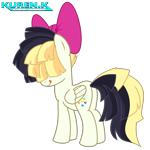 Size: 1800x1800 | Tagged: safe, artist:kuren247, songbird serenade, pegasus, my little pony: the movie, bow, cheeky, female, looking back, sia (singer), simple background, solo, tongue out, transparent background, vector