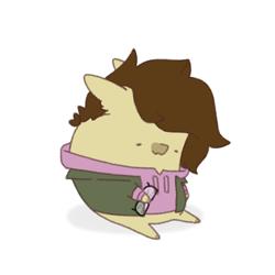 Size: 720x720   Tagged: safe, artist:hirokies003#1849, oc, oc:cj vampire, earth pony, pony, bomber jacket, brown mane, clothes, fanart, floppy ears, food, glasses off, holding glasses, hoodie, jacket, photo, potato, purple hoodie, solo