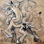 Size: 1080x1080 | Tagged: safe, artist:paipaishuaige, nightmare moon, alicorn, pony, solo