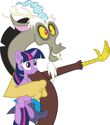 Size: 2657x3000   Tagged: safe, artist:frownfactory, discord, twilight sparkle, draconequus, pony, unicorn, the return of harmony, female, horn, male, mare, simple background, transparent background, unicorn twilight, vector, wings