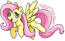 Size: 1182x749 | Tagged: safe, fluttershy, pegasus, pony, female, flying, mare, open mouth, open smile, pink mane, pink tail, simple background, smiling, solo, spread wings, tail, teal eyes, transparent background, wings