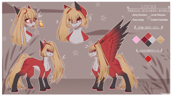 Size: 3990x2230   Tagged: safe, artist:honeybbear, oc, oc:lynee, pegasus, pony, female, mare, reference sheet, solo