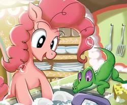 Size: 1024x848   Tagged: safe, artist:neoshrek, gummy, pinkie pie, earth pony