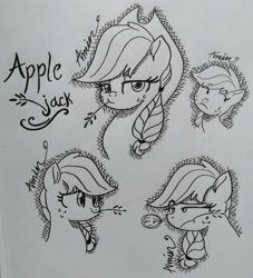 Size: 2974x3281   Tagged: safe, artist:c.a.m.e.l.l.i.a, applejack, earth pony, pony, simple background, solo, traditional art, white background