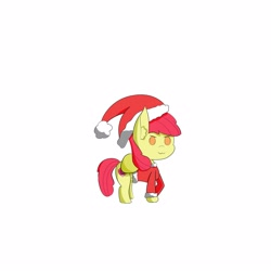 Size: 3300x3300   Tagged: safe, artist:iceflare0714, apple bloom, earth pony, pony, christmas outfit, female, filly, solo