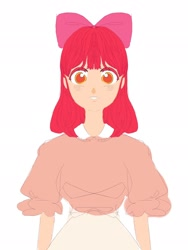 Size: 1536x2048   Tagged: safe, artist:effy_a_art, apple bloom, human, humanized, sketch, solo