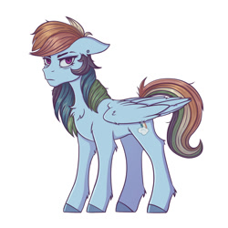 Size: 2000x2000   Tagged: safe, artist:silverst, mean rainbow dash, pegasus, the mean 6, clone, evil, full body, simple background, white background