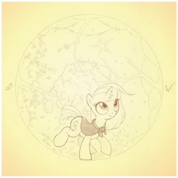 Size: 837x842 | Tagged: safe, artist:sherwoodwhisper, oc, oc:eri, pony, unicorn, autumn, cape, clothes, female, filly, four seasons, inktober, inktober 2021, monochrome, seasons, solo, spring, summer, winter