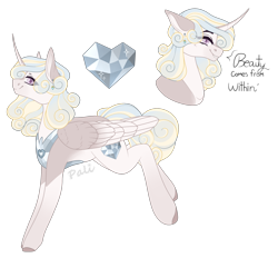 Size: 1800x1668 | Tagged: safe, artist:pokaparida, oc, alicorn, pony, female, mare, offspring, parent:princess cadance, parent:shining armor, parents:shiningcadance, simple background, solo, transparent background