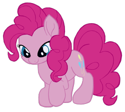 Size: 1280x1144 | Tagged: safe, artist:benpictures1, pinkie pie, earth pony, pony, my little pony: the movie, cute, diapinkes, female, inkscape, looking down, mare, simple background, solo, transparent background, vector
