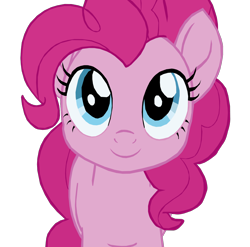 Size: 1280x1267 | Tagged: safe, artist:benpictures1, pinkie pie, earth pony, pony, my little pony: the movie, cute, diapinkes, female, inkscape, mare, simple background, solo, transparent background, vector