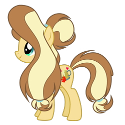 Size: 2135x2130 | Tagged: safe, artist:galaxyswirlsyt, oc, oc:apple pie, earth pony, pony, female, mare, offspring, parent:applejack, parent:caramel, parents:carajack, simple background, solo, transparent background