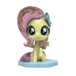 Size: 1000x1000   Tagged: safe, part of a set, fluttershy, pegasus, pony, figurine, kwistal fwenz, merchandise, mighty jaxx, simple background, solo, transparent background