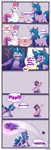 Size: 1700x5000   Tagged: safe, artist:celes-969, izzy moonbow, pipp petals, zipp storm, pegasus, pony, unicorn, g5, my little pony: a new generation, comic, glowing, glowing horn, height supremacy, horn, marelet, national throw short people day, pipp is short, smol, yeet