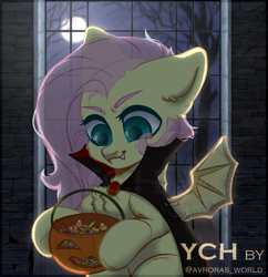 Size: 3000x3100 | Tagged: safe, artist:avroras_world, fluttershy, pegasus, pony, clothes, commission, costume, female, halloween, halloween costume, holiday, male, mare, solo, stallion, window, ych example, ych sketch, your character here