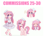 Size: 802x652 | Tagged: safe, artist:franshushu, oc, alicorn, earth pony, human, original species, pegasus, pony, unicorn, zebra, anthro, equestria girls, advertisement, commission info, commissions open, cute, humanized, information, paypal