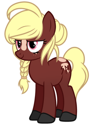 Size: 1348x1789 | Tagged: safe, artist:rioshi, artist:starshade, oc, oc only, oc:edda sol, earth pony, pony, braid, commission, digital art, female, freckles, hair over one eye, mare, simple background, smiling, solo, white background, ych result