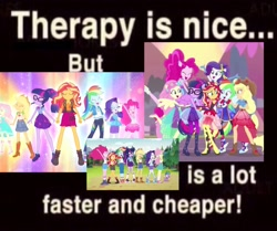 Size: 2047x1708 | Tagged: safe, artist:diamondsdrawing, edit, screencap, applejack, fluttershy, pinkie pie, rainbow dash, rarity, sci-twi, spike, spike the regular dog, sunset shimmer, twilight sparkle, dog, cheer you on, equestria girls, equestria girls series, forgotten friendship, legend of everfree, clothes, converse, cutie mark, cutie mark on clothes, geode of empathy, geode of fauna, geode of shielding, geode of sugar bombs, geode of super speed, geode of super strength, geode of telekinesis, humane five, humane seven, humane six, magical geodes, ponied up, shoes