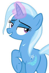 Size: 4250x6293 | Tagged: safe, artist:grapefruitface1, trixie, pony, unicorn, road to friendship, butt, looking at you, looking back, looking back at you, magic, magic aura, show accurate, simple background, solo, trace, transparent background, vector, we're friendship bound, wet, wet mane