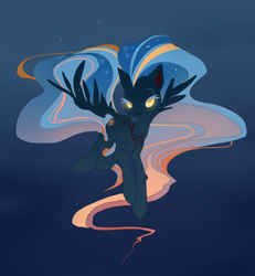 Size: 1716x1854   Tagged: safe, artist:n0pies, oc, oc only, pegasus, pony, ethereal mane, glowing eyes, pegasus oc, solo