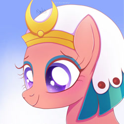 Size: 1024x1024   Tagged: safe, artist:nnaly, somnambula, pegasus, pony, bust, female, gradient background, mare, portrait, solo