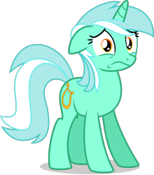 Size: 7783x8842 | Tagged: safe, artist:thatusualguy06, lyra heartstrings, pony, unicorn, rock solid friendship, .svg available, absurd resolution, female, looking at you, mare, reaction image, show accurate, simple background, solo, svg, transparent background, vector, worried