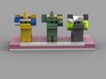 Size: 1024x768 | Tagged: safe, artist:solarmod, oc, oc only, oc:emerald ink, oc:jack sunshine, oc:solarmod, lego, male, stud.io