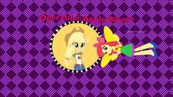 Size: 1280x720 | Tagged: safe, artist:ddart2019, apple bloom, applejack, equestria girls, arthur