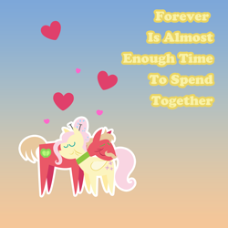 Size: 2160x2160 | Tagged: safe, anonymous artist, big macintosh, fluttershy, earth pony, pegasus, pony, series:fm holidays, alternate hairstyle, choker, elderly, eyes closed, facial hair, female, fluttermac, hairpin, holiday, male, mare, moustache, neck nuzzle, older, older big macintosh, older fluttershy, pointy ponies, shipping, stallion, straight, valentine, valentine's day, valentine's day card