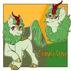 Size: 2000x2000   Tagged: safe, artist:jeshh, oc, oc:emerald grove, kirin, female, solo