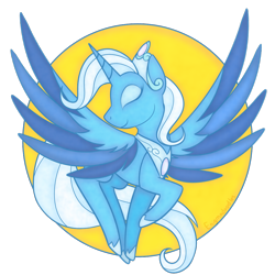 Size: 1000x1000 | Tagged: safe, artist:enigmadoodles, trixie, alicorn, pony, idw, reflections, spoiler:comic, alicornified, eyes closed, female, mare, princess of humility, race swap, solo, trixiecorn