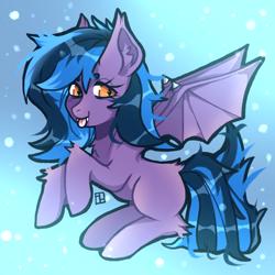 Size: 1600x1600   Tagged: safe, oc, oc:stormy night, bat pony, bat pony oc, bat wings, wings