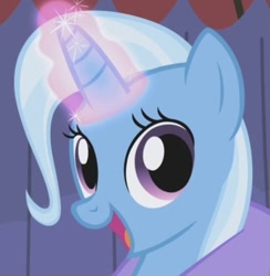Size: 400x410 | Tagged: safe, edit, edited screencap, screencap, trixie, boast busters, cropped
