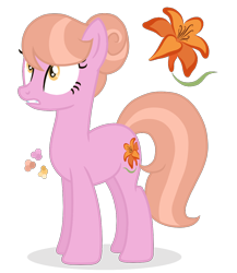 Size: 1000x1150   Tagged: safe, artist:magicuniclaws, oc, earth pony, pony, female, magical lesbian spawn, mare, offspring, parent:lily, parent:suri polomare, simple background, solo, transparent background
