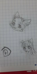 Size: 487x960 | Tagged: safe, artist:aleuoliver, twilight sparkle, oc, pony, unicorn, bust, female, graph paper, lineart, mare, traditional art, unicorn twilight