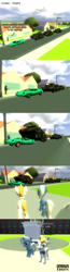 Size: 1024x3941 | Tagged: safe, artist:gradiusfanatic, prince blueblood, tank, trixie, human, unicorn, 3d, car, combine soldier, comic, crossover, female, gmod, male, vehicle