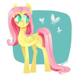 Size: 1080x1080 | Tagged: safe, artist:miki.mp4, fluttershy, pegasus, pony, solo