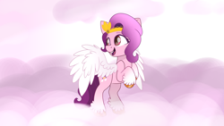 Size: 3416x1921 | Tagged: safe, artist:envygirl95, pipp, pegasus, pony, cloud, colored wings, g5, solo, wings
