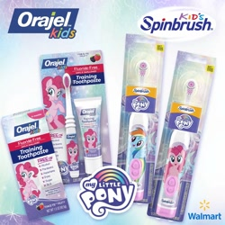 Size: 1500x1500 | Tagged: safe, pinkie pie, rainbow dash, merchandise, my little pony, official, orajel, toothbrush, toothpaste