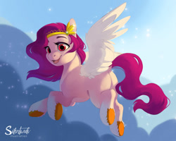 Size: 1280x1024 | Tagged: safe, artist:silentwulv, pipp, pegasus, pony, cute, female, flying, g5, mare, open mouth, smiling, solo