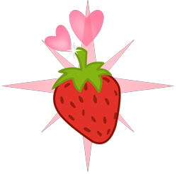 Size: 1006x988 | Tagged: safe, artist:muhammad yunus, oc, oc:strawberries, cutie mark, cutie mark only, food, heart, no pony, simple background, strawberry, transparent background