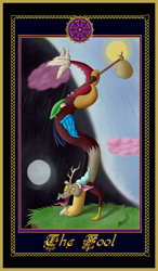 Size: 2480x4236 | Tagged: safe, artist:reminic, discord, draconequus, friendship is magic, card, tarot, tarot card, villains of equestria