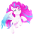 Size: 766x791 | Tagged: safe, artist:unoriginai, pegasus, pony, spoiler:g5, colored wings, evil grin, female, g5, gradient wings, grin, heterochromia, looking at you, mare, simple background, smiling, solo, teeth, transparent background, wings, zipp