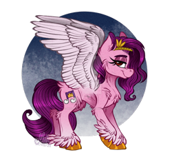 Size: 1024x948 | Tagged: safe, artist:millefaller, pipp, pegasus, pony, abstract background, cheek fluff, chest fluff, deviantart watermark, eyelashes, female, g5, hoof fluff, leg fluff, looking at you, mare, obtrusive watermark, signature, simple background, smiling, solo, spread wings, transparent background, unshorn fetlocks, watermark, wings