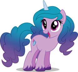 Size: 1280x1192 | Tagged: safe, artist:helenosprime, izzy moonbow, pony, unicorn, cute, female, g5, g5 to g4, izzybetes, mare, open mouth, simple background, solo, transparent background, unshorn fetlocks